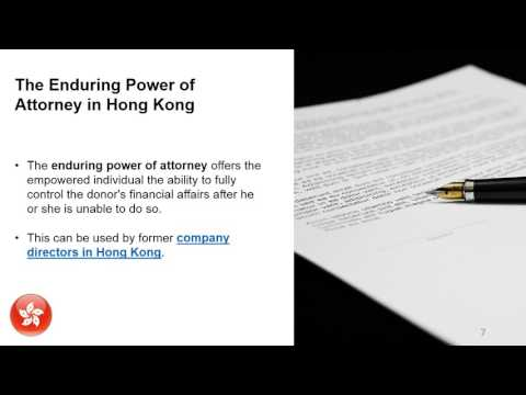 Power of Attorney in Hong Kong
