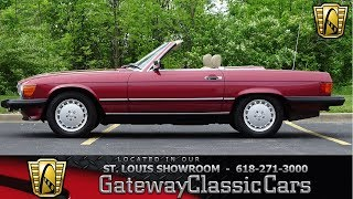 1989 Mercedes Benz 560 SL for sale Gateway Classic Cars STL