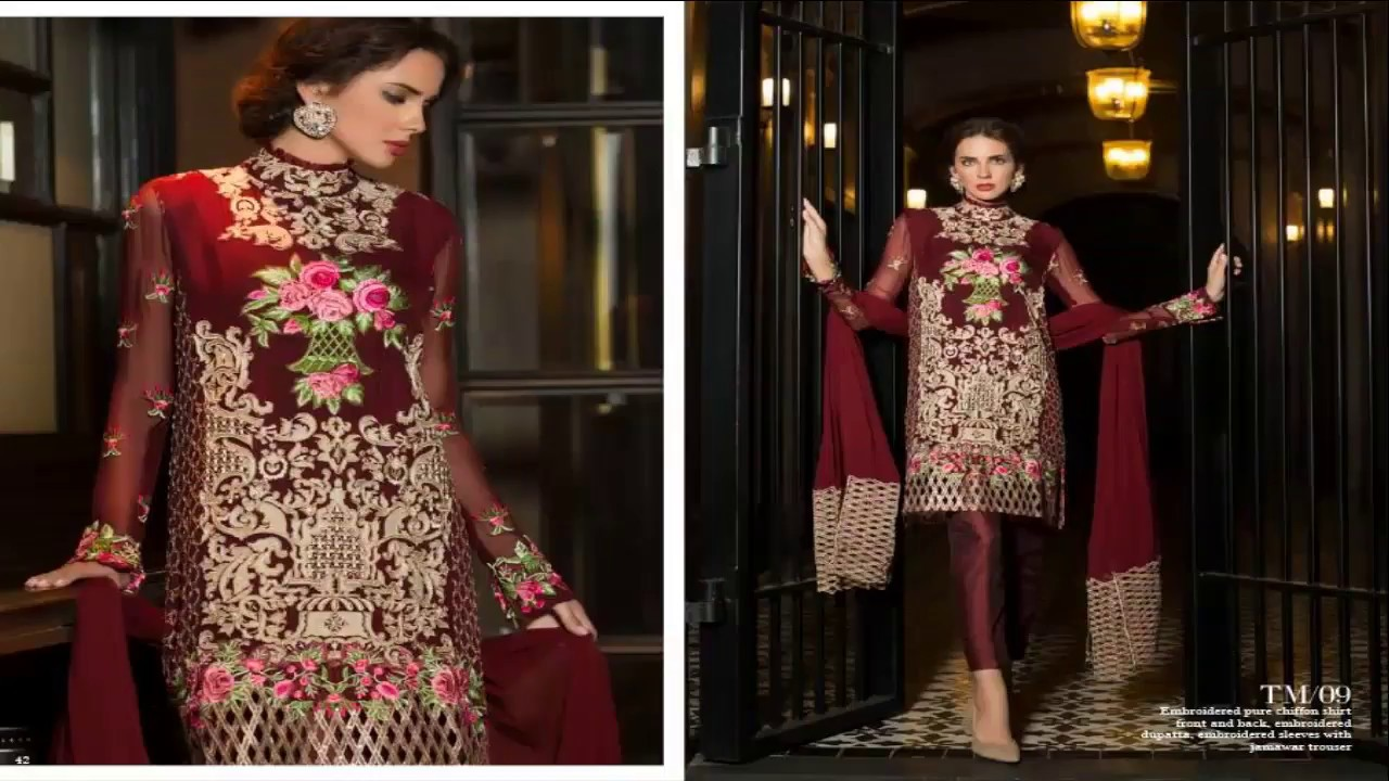Fashion week Mughal Tabassum formal wear dresses collection pictures for girls