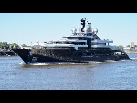 4K | Mega Yacht CRESCENT - Project THUNDER is back in