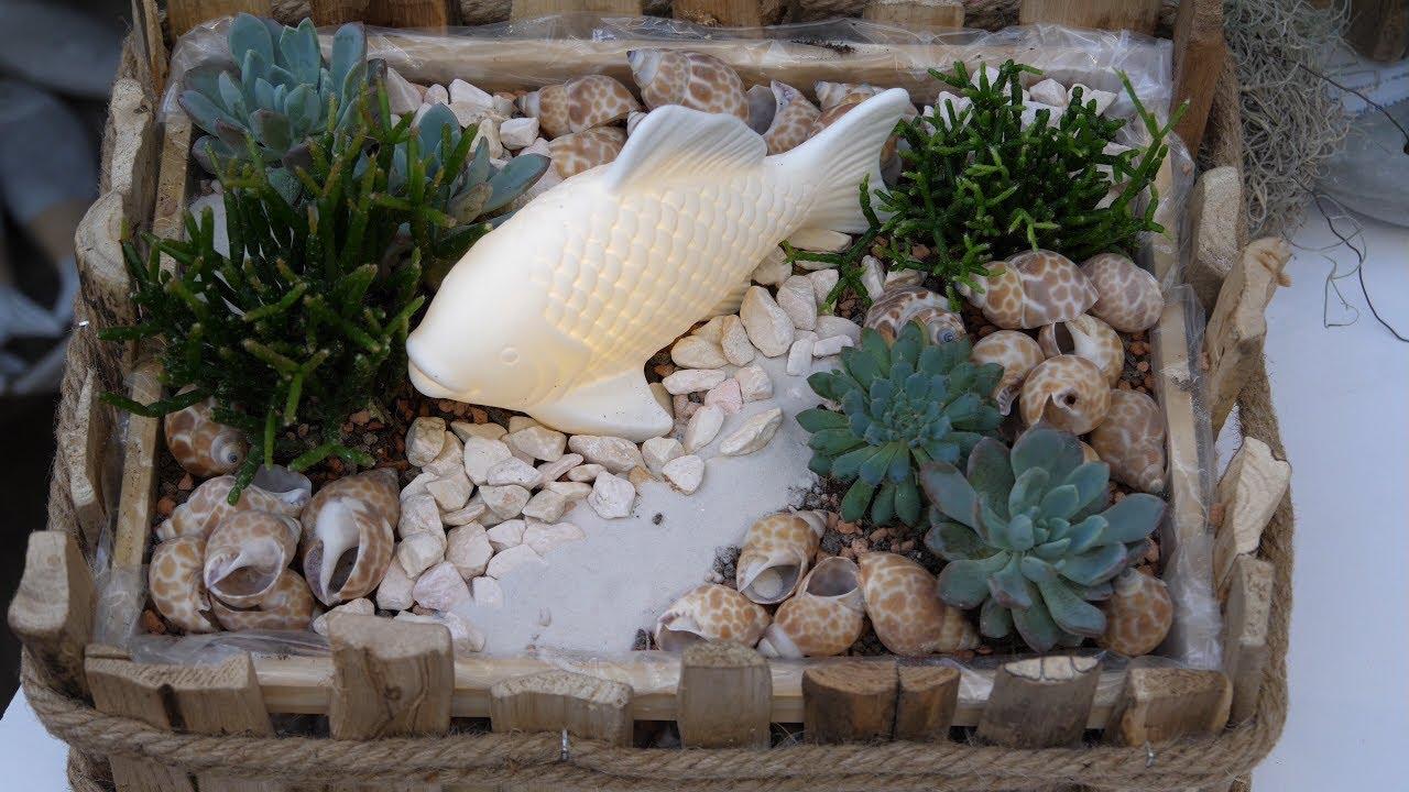 Diy Deko Fur Sideboard Und Tisch Treibholzkiste Mit Leucht Fisch