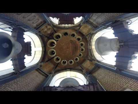 (INTERIOR) Campanas Catedral de La Almudena // Volteo Misa de los domingos // Falta la campana mayor