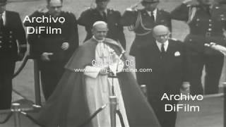 Papa Pablo VI arriba al aeropuerto El Dorado - Ciudad de Bogota 1968