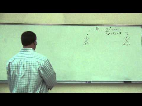 Intermediate Algebra Lecture 7.1:  Defining and Simplifying Rational Expressions