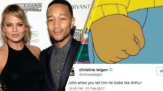 Chrissy Teigen's PERFECT Reaction to Twitter Comparing Husband John Legend to Arthur Cartoon