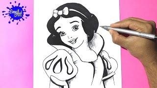 Como dibujar a blanca nieves 2 l how to draw snow white - como dibujar una princesa