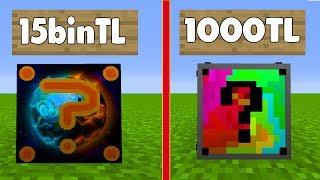 15000TL VS 1000TL  ŞANS BLOKLARI - Minecraft