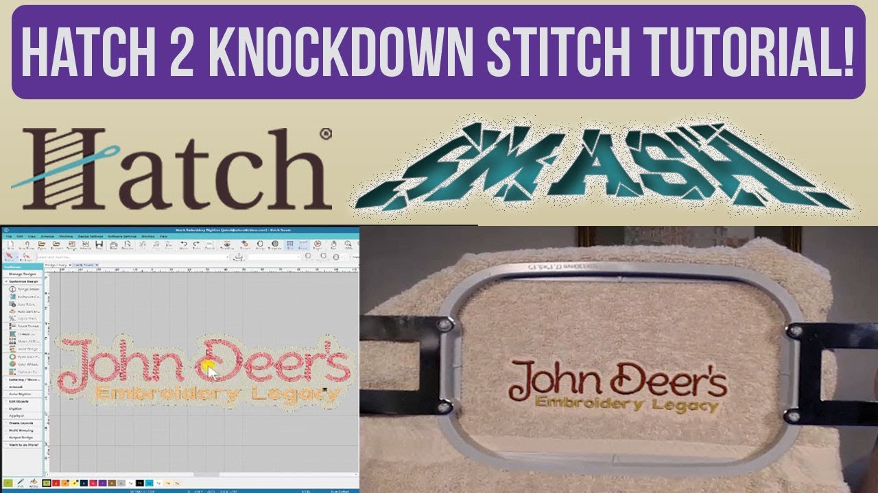 Knock Down Stitch Hatch Version 2 Tutorial (Hatch Smash) - EASIEST WAY TO  EMBROIDER TOWELS