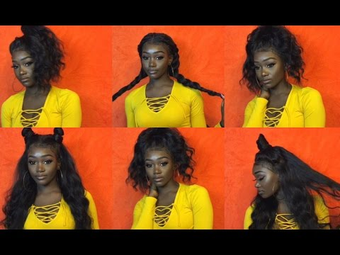 7 Ways To Style A 360 Lace Frontal Youtube