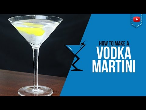 Vodka Martini Cocktail - How to make a Vodka Martini Cocktail Recipe by Drink Lab (Popular)