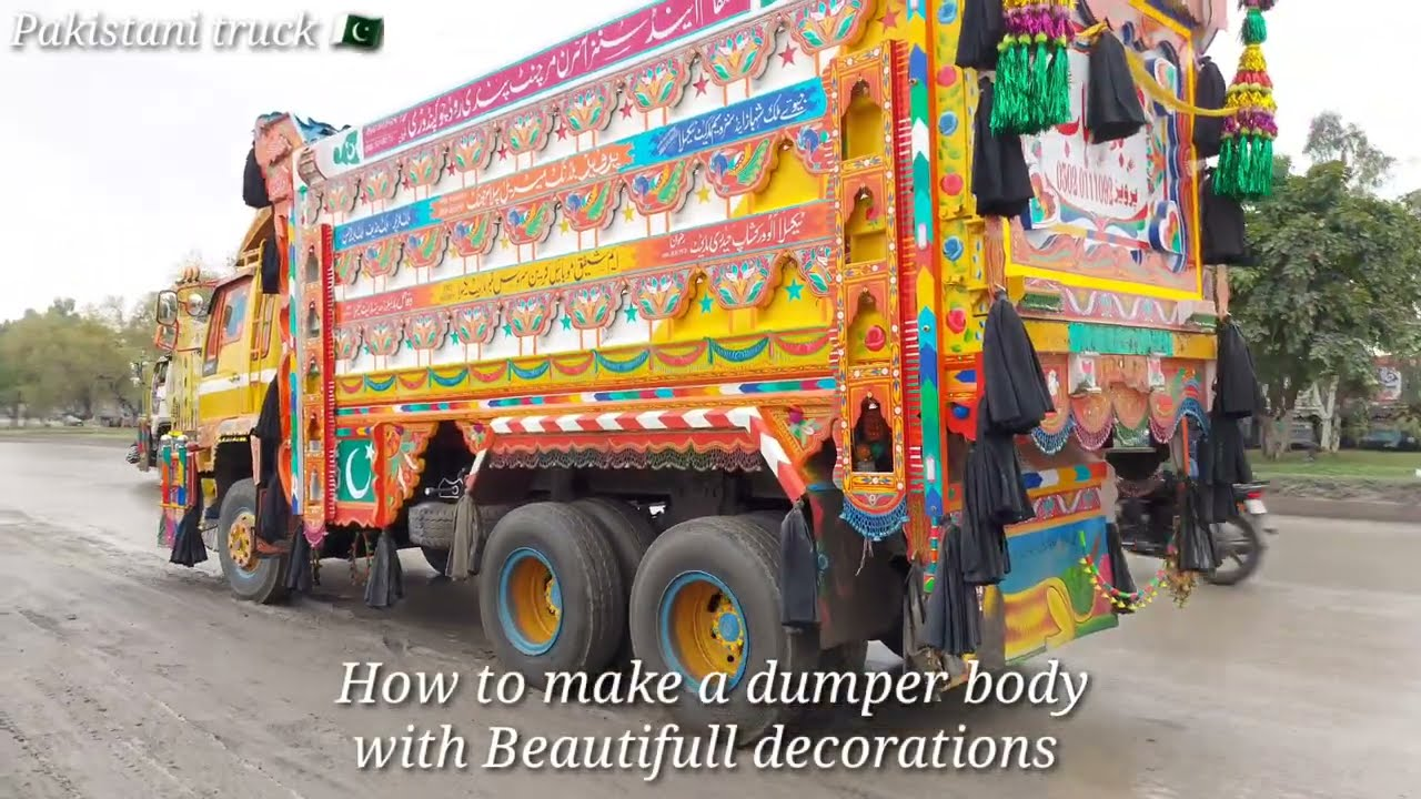 how to make a dumper body with truck art full video