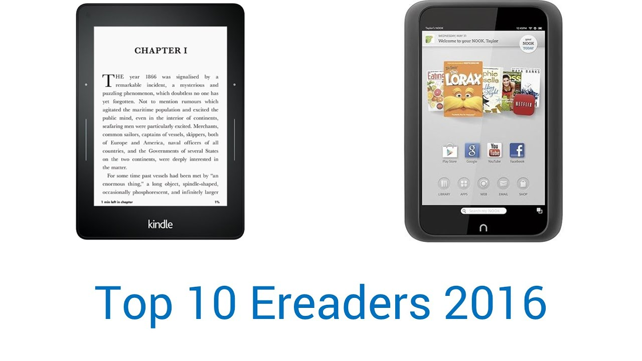 10 Best E-Readers 2016 - YouTube