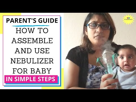 How to use nebulizer for baby suffering from cough and cold Demo- Must see