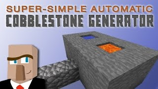BUILD THIS SIMPLE COBBLESTONE GENERATOR: A Minecraft How-To