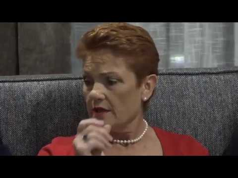Pauline Hanson Live from Perth in Western Australia.