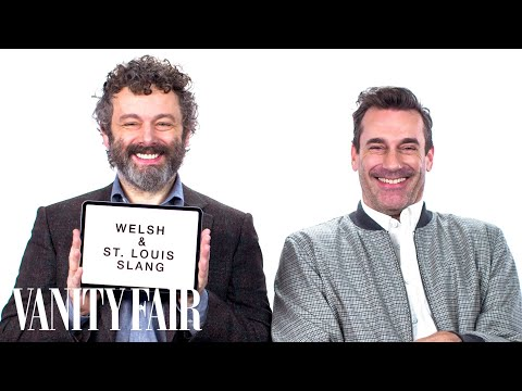 Jon Hamm and Michael Sheen Teach You St. Louis and Welsh Sla