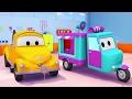 Çekici Tom ve Şekerleme Arabası Araba Şehri'nde | Araba ve Kamyon inşaat çizgi filmi (çocuklar için)