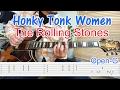 ロックギター初心者講座【Honky Tonk Women/The Rolling Stones】オープンGチューニング、コード&フレーズの弾き方(指弾き)を解説!