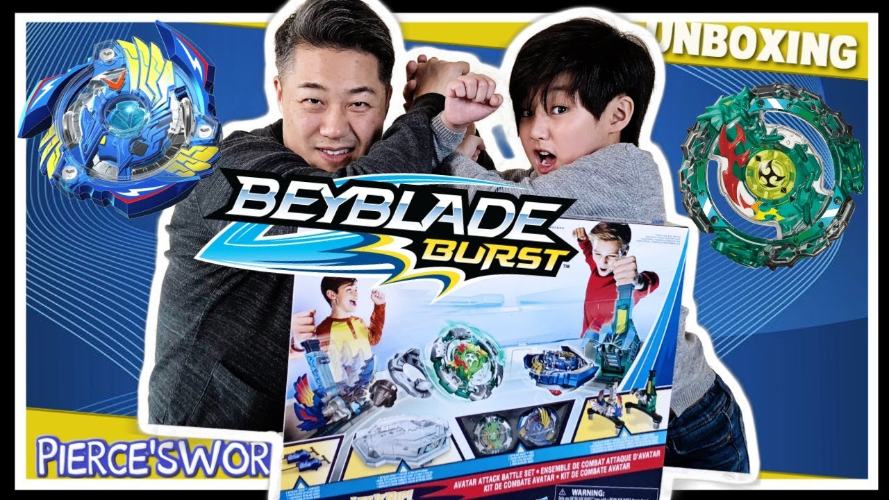 2018 Winter Olympic Games for kids Challenge BeyBlade Burst Avatar Attack Arena Daddy vs Son