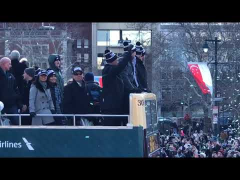 Eagles parade 2018: Nick Foles, Carson Wentz in front