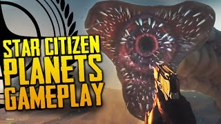 Star Citizen: Planetary Landing & Sandworm Attack Gameplay (60fps) - CitizenCon 2016