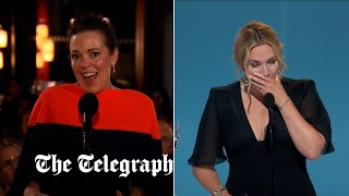 video: Kate Winslet and Olivia Colman win at Emmy Awards in a night to remember for British talent