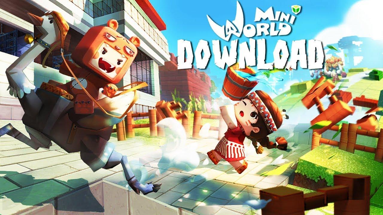 download mini world block art mod apk+obb