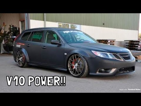 Meet the Saab 9-3 With a V10 Viper Engine!