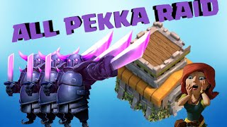 CLASH OF CLANS l All Pekka Raid l TH8 Attack Stratergy l