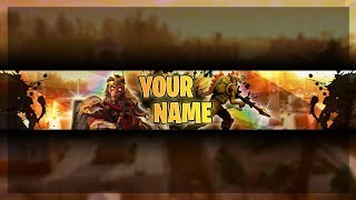 Youtube Fortnite Channel Art | Fortnite Banner Template Free | Photoshop CS6