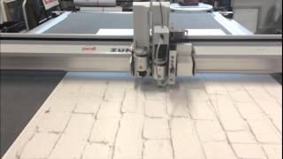 High-speed Cnc Knife-cutting X-board Print On An Oce Procut Cutting Table