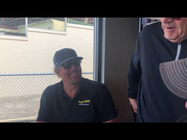 Toby Keith visits Ellis Park - and gets his Red Solo Cup! Aug. 17, 2019