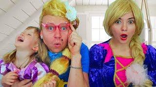 Тася и папа играют в салон красоты / Beauty saloon  Dress Up