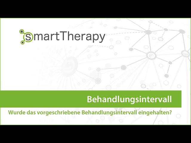 smartThrapy: Behandlungsintervall