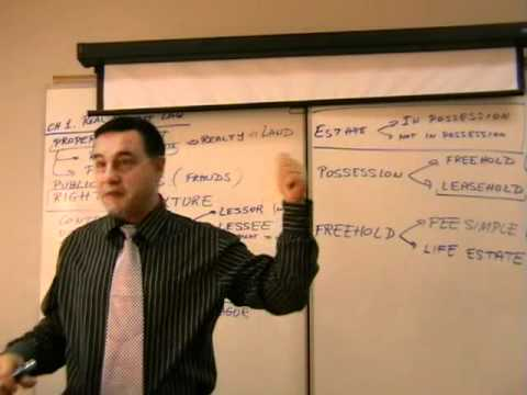 Real Estate Finance -- Lecture 02 - Legal Concepts