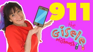 Teaching Kids How To Use A Cell phone For An Emergency | Dialing 9-1-1 | The Gisele Mishmash