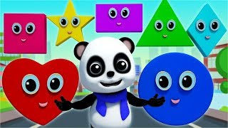 The Shapes Song | Learn Shapes For Children | Baby Songs By Baby Bao Panda