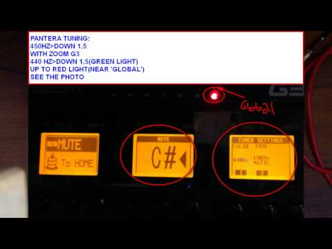 ZOOM G3 PANTERA TONE AND TUNING free download patch and mp3 tuning