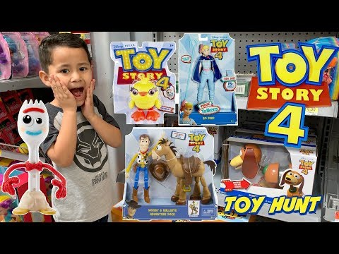NEW TOY STORY 4 TOYS - Toy Hunt for TOY STORY 4 MOVIE toys Buzz Lightyear, Bo Peep, Ducky and Bunny