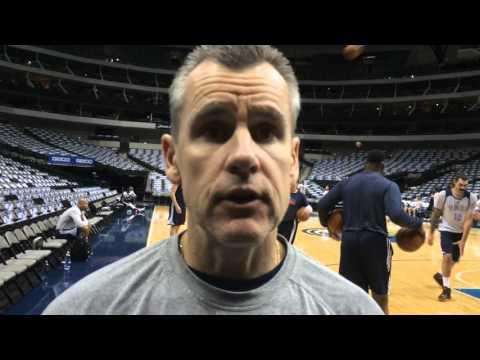 Donovan: Shootaround in Dallas - Jan. 22, 2016