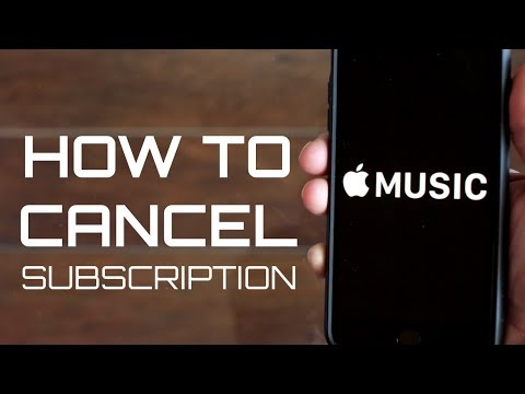How to CANCEL your APPLE MUSIC Subcription 2018
