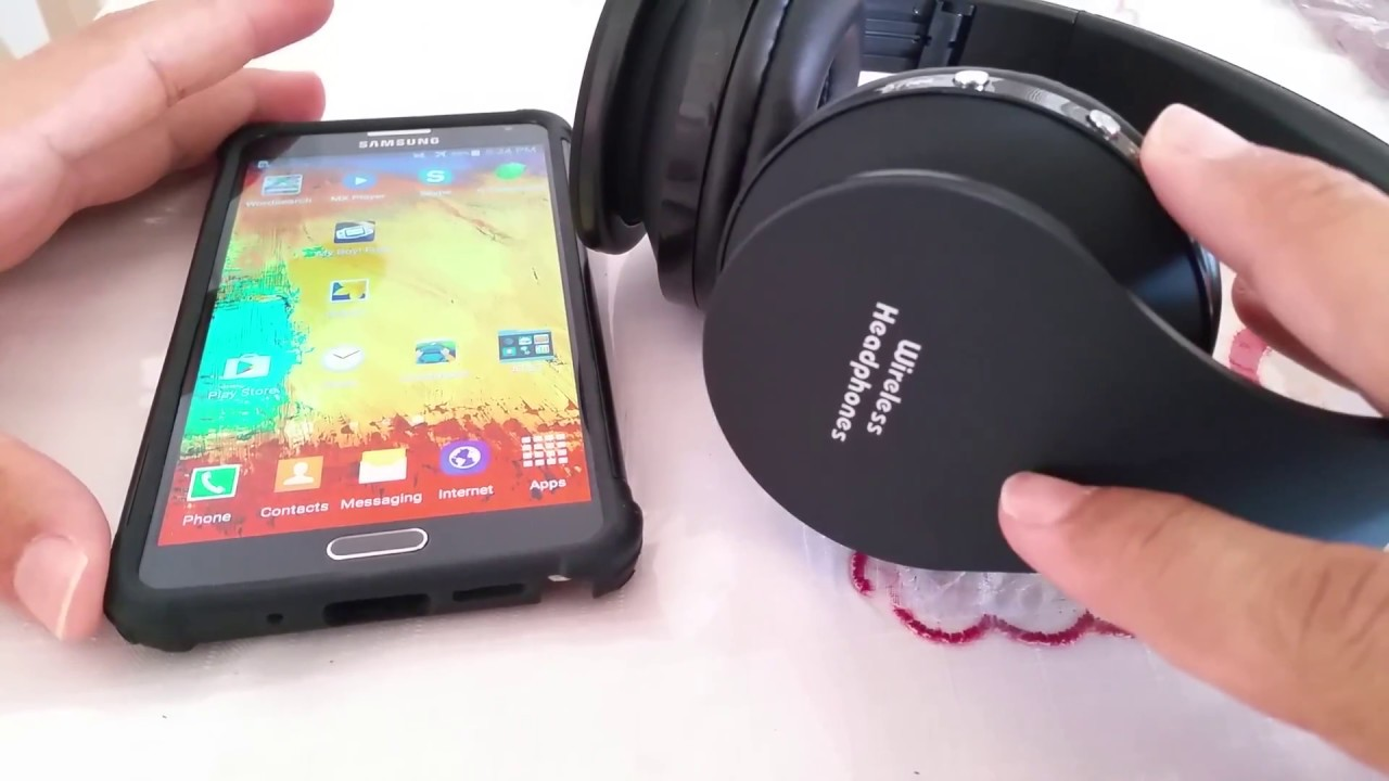 How To Connect Wireless Headphones To Android Phone Samsung Youtube