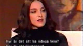 Madonna 1998 swedish talk show interview part 1