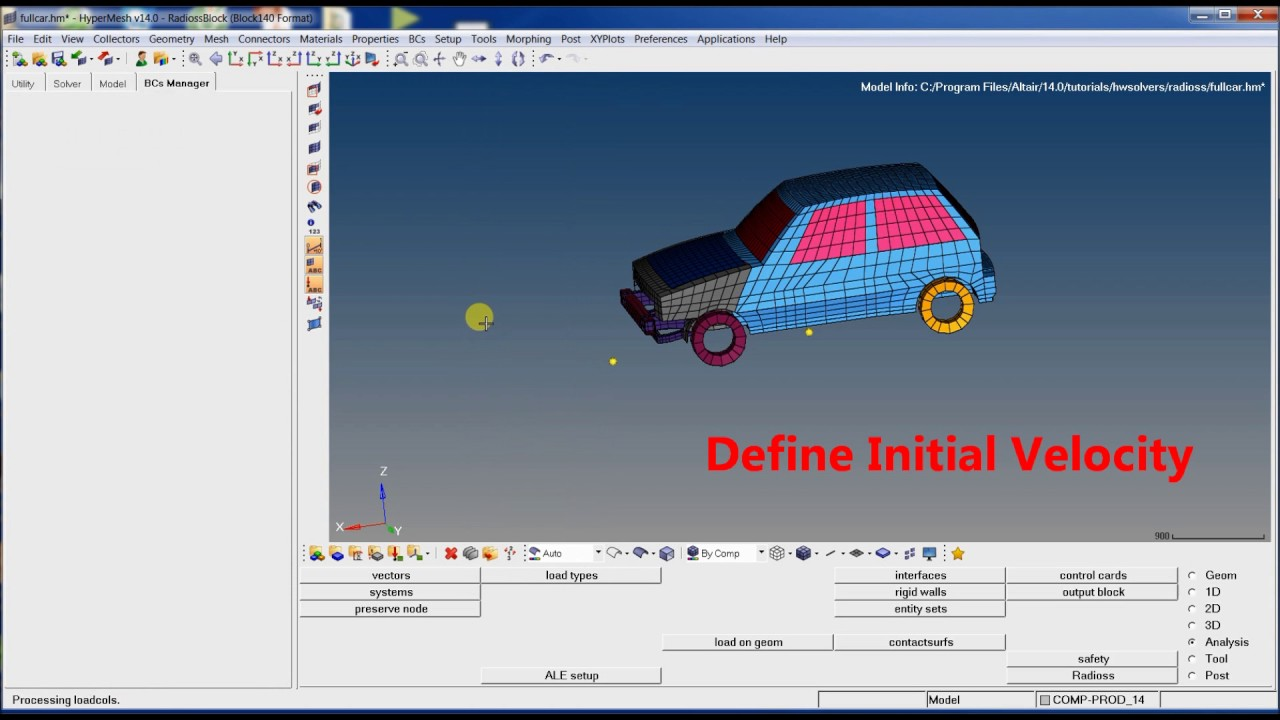 Vehicle Crash simulation with Hyperworks Radioss 14 - YouTube