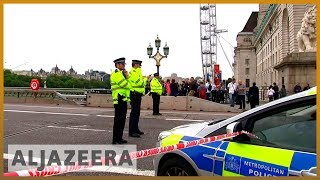 Police in London are treating a crash outside the British parliamen...