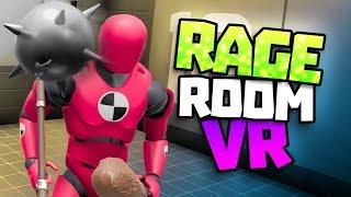 BREAKING TEST DUMMIES IN VR - Rage Room VR Gameplay - VR HTC Vive Gameplay