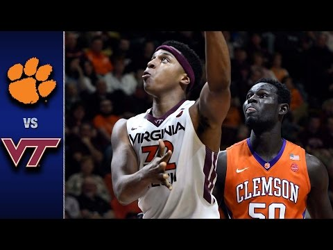 Clemson vs. Virginia Tech Men's Basketball Highlights (2016-17)