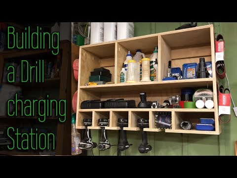 How to build a diy drill charging station