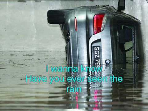 Orchard Road Flash Floods! Have You Ever Seen The Rain - C C R Karaoke byCharlie