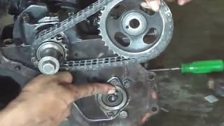 Cara memasang Rantai Timing Toyota kijang 4k - bag. 1